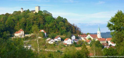 ausflugsziele-falkenstein-sehenswürdigkeiten-ansicht-burg-kirche-ortschaft