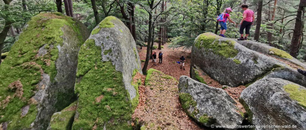 Rundwanderweg bei Falkenstein Kletterfelsen am Semmelberg