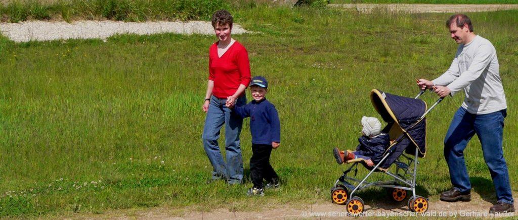 kinderwagentaugliche Wanderwege in Bayern mit Bbaby und Kleinkind