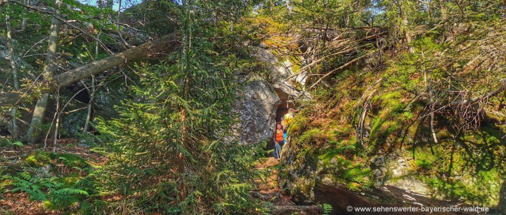 Felsenwandergebiet Mauth Neuschönau wandern im Urwald