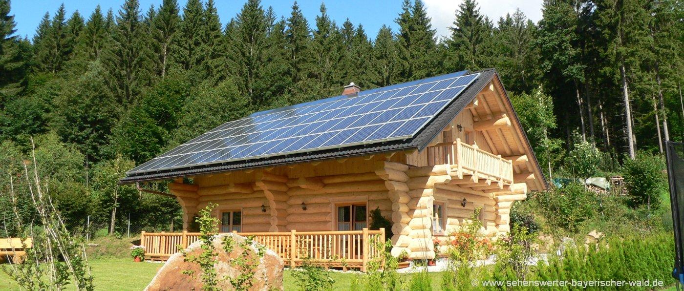 Blockhausurlaub im Naturholz Ferienhaus Oberpfalz und Niederbayern