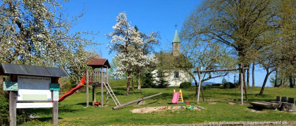 Kinderspielplatz am Guthof Frath Rundweg Drachselsried Böbrach