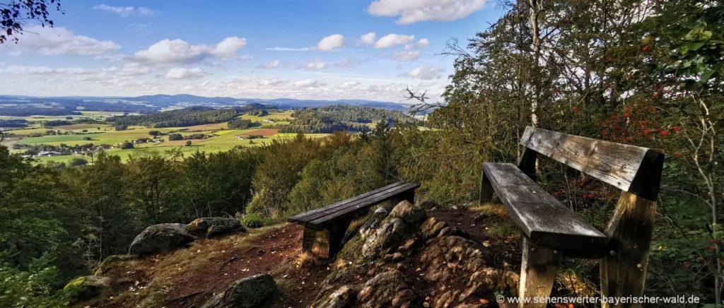 Aussichtspunkt mit Ruhebank Gipfel Rundweg Zwirenzl bei Geigant