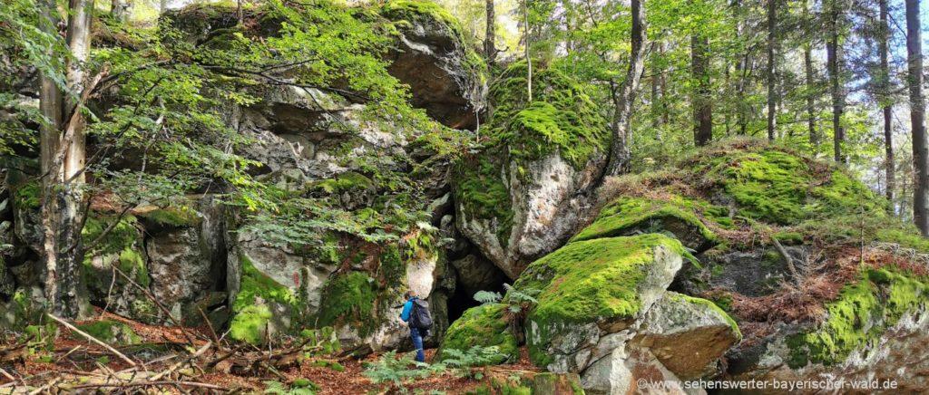Gleissenberg Rundwanderweg Katlfelsen Höhle bei Roßhof