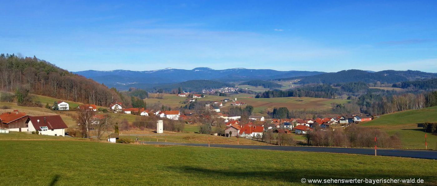 Sehenswertes Gotteszell Tipps für Ausflüge Bayerischer Wald Berge Landschaft