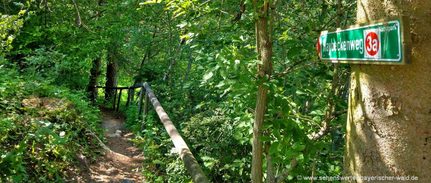 Wanderweg 3a Haybeckenweg Geschichtslehrpfad in Haibach