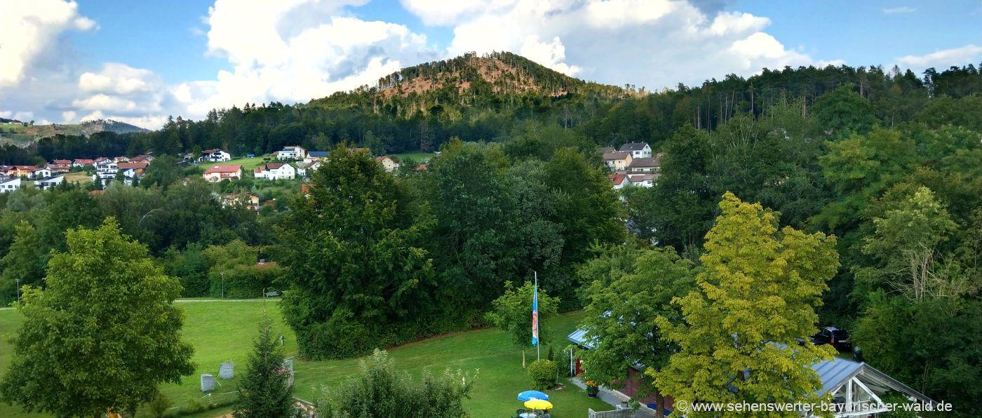 Ausblick vom Pinocchio Aussichtsturm in Hauzenberg