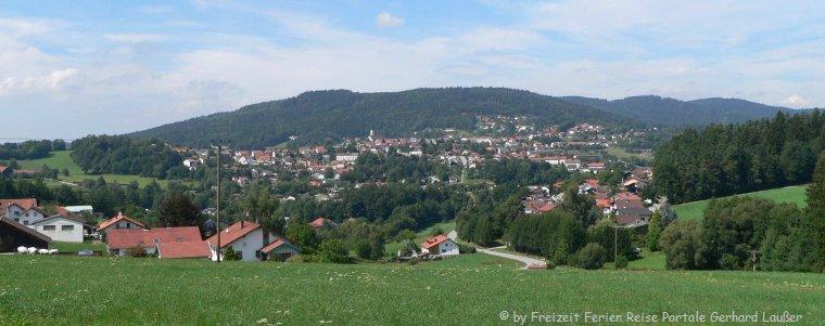 Sehenswürdigkeiten in Hauzenberg Bayerischer Wald Stadtansicht