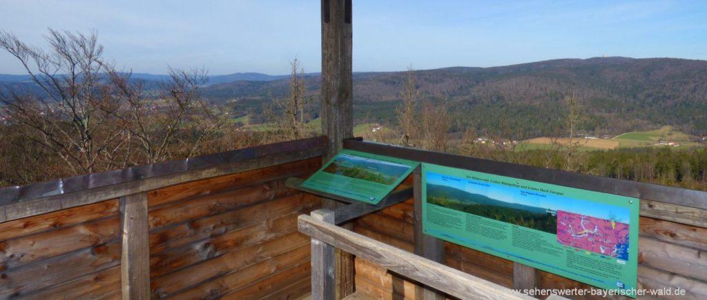 Aussichtsturm am Klammerfels bei Herzogau Aussichtspunkt Waldmünchen