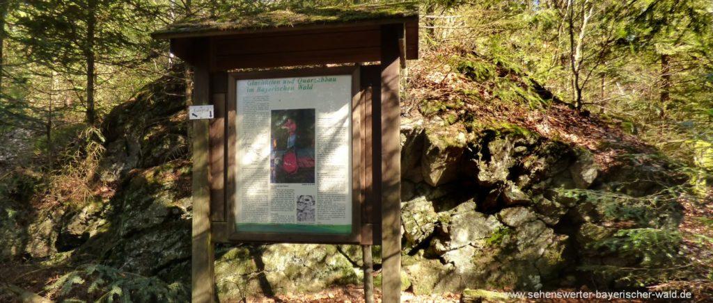 Lehrpfad bei Waldmünchen Rundweg Klammerfels ab Herzogau