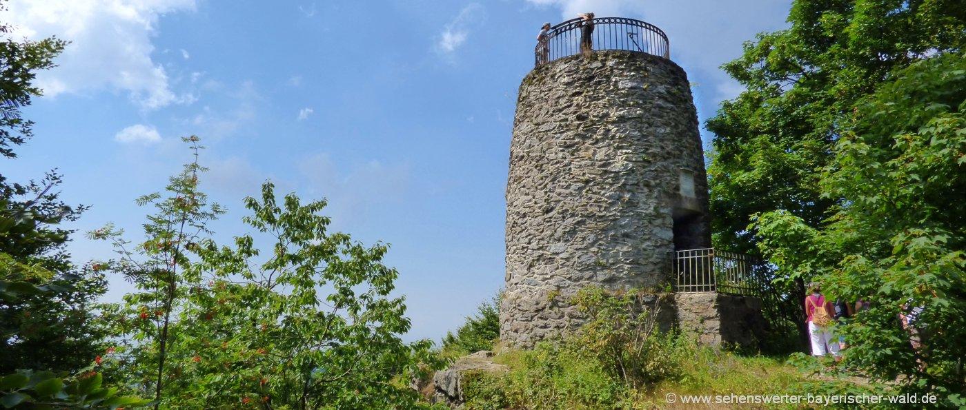 Wanderung St Englmar über´n Predigtstuhl zum Hirschenstein Aussichtsturm