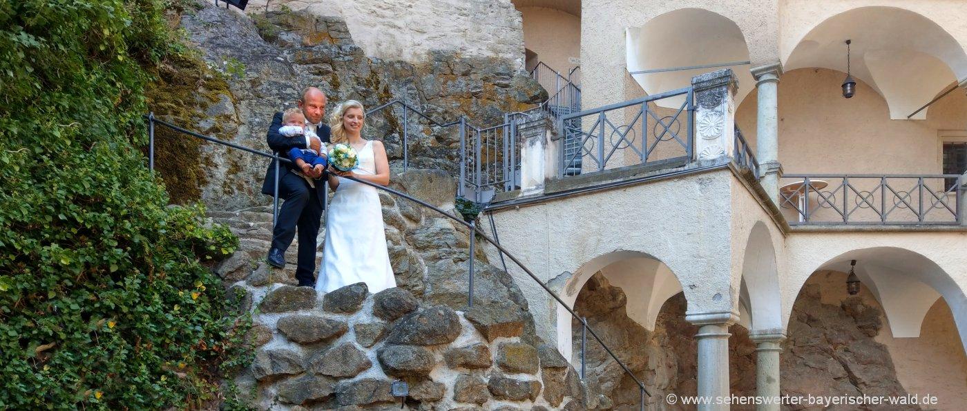 Hochzeit feiern in Niederbayern - Originelle Hochzeitslocation Burg, Schloss, Gutshof ...