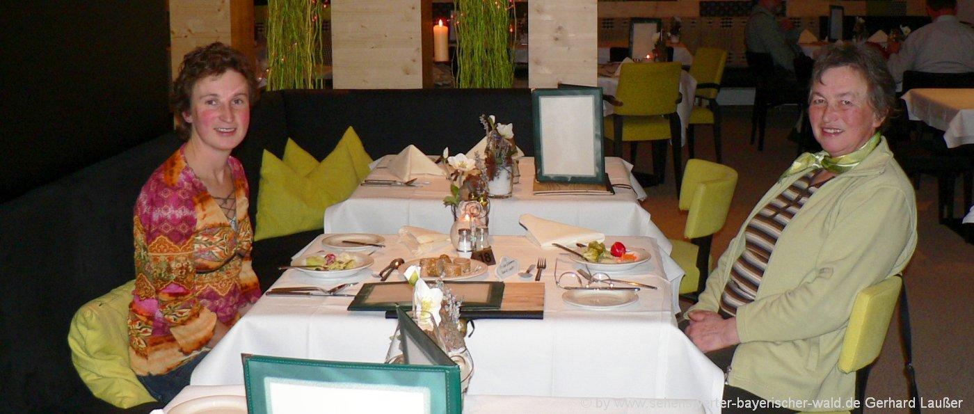 Urlaub im Bayerischen Wald mit Halbpension in Bayern, Niederbayern & Oberpfalz Abendessen