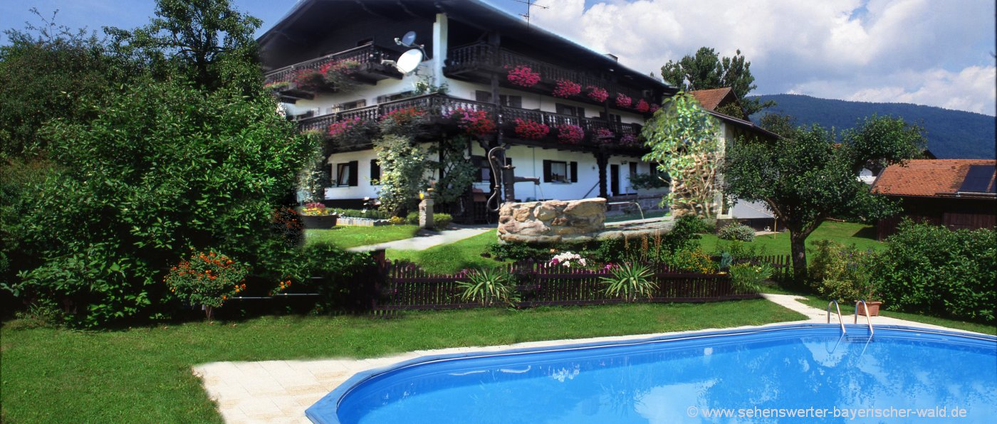Monteurzimmer in Lalling Pension mit Pool