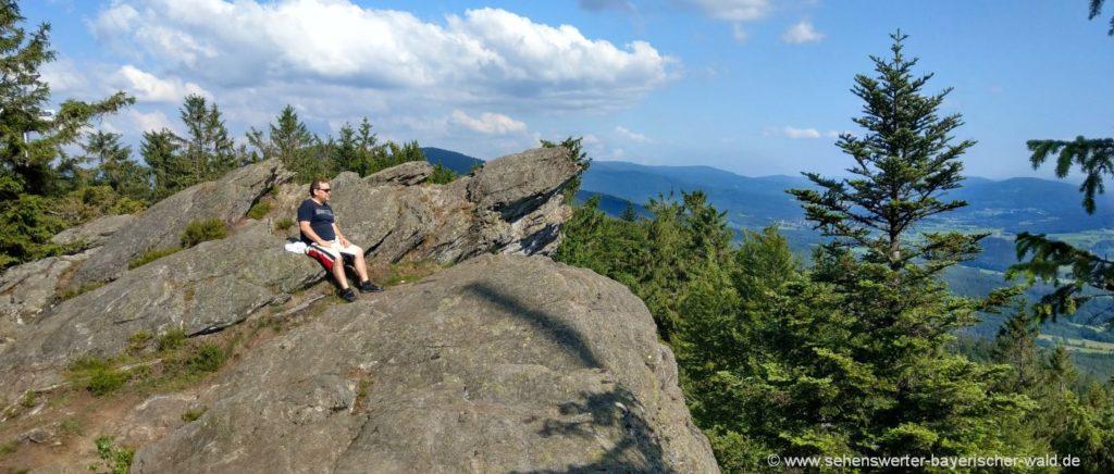 Bayerischer Wald Berge - Urlaub Ausflugsziele und Unterkünfte