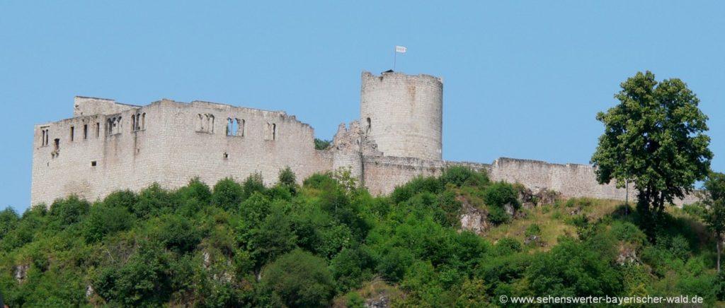 Freizeit Aktivitäten in Kallmünz und Umgebung Wandern zur Ruine