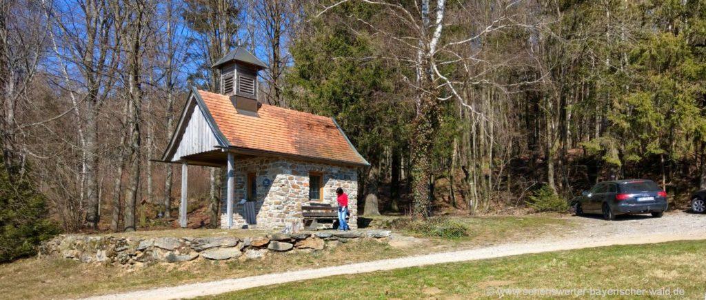 Ruhland Kapelle bei Eschlmais Rundweg Kathlfelsen, Arberblick, Roßhof