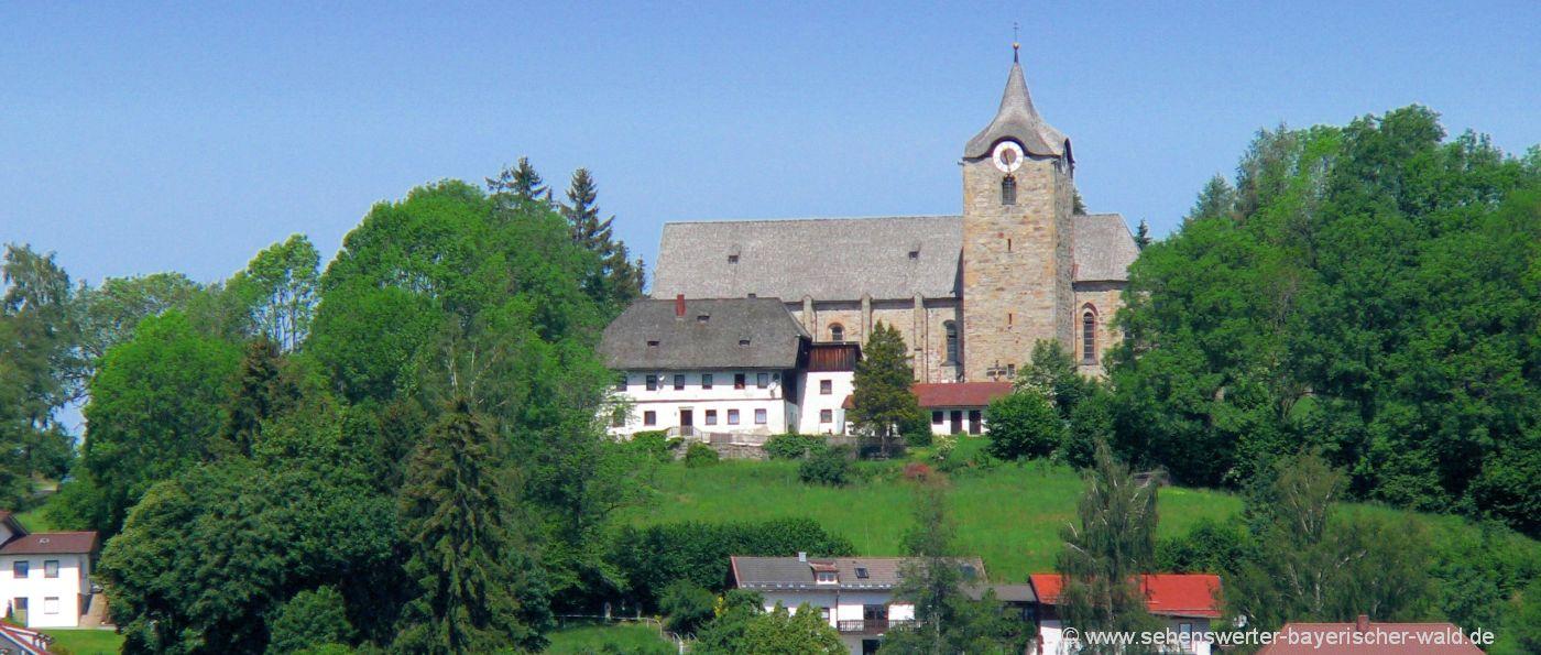 Sehenswürdigkeiten Kirchberg in Wald Ausflugsziele Kirche