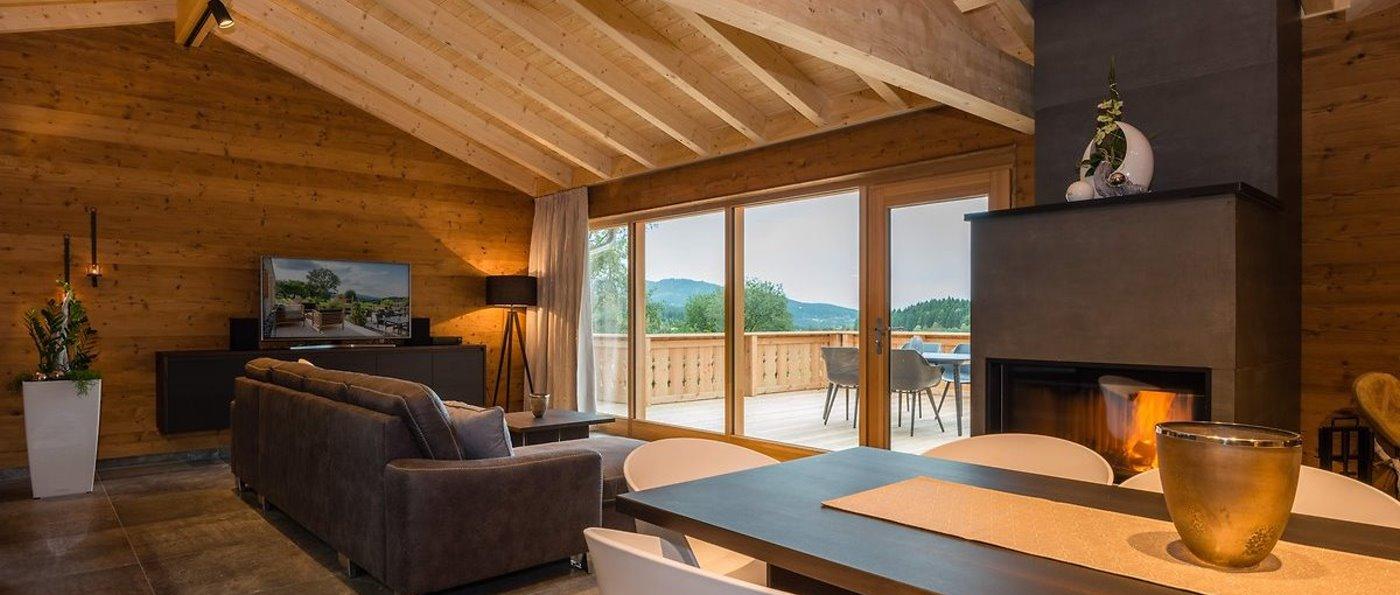 Bayern Premium Chalet mit Kamin mieten Luxushaus mit Sauna