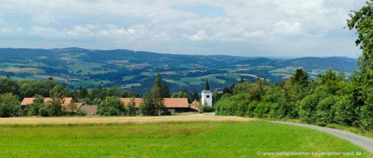 konzell-wanderung-gallner-berg-kirche-stallwang-aussicht