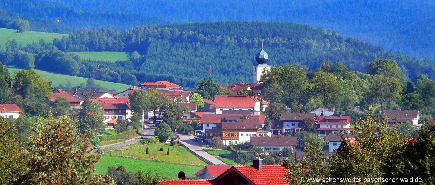 Ausflugsziele und Sehenswürdigkeiten in Lam am Osser Bayerischer Wald