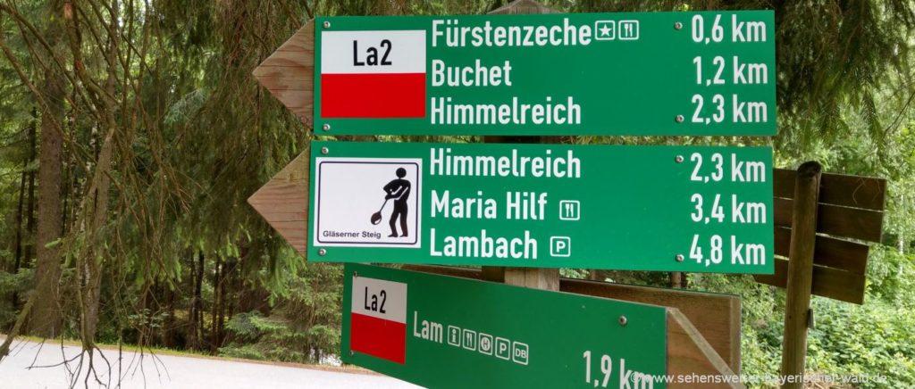 Wanderungen in Lam und Umgebung Wanderweg zur Fürstenzeche