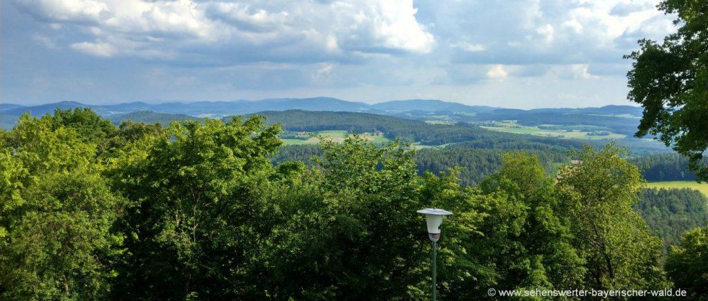 Aussichtspunkt Lamberg Rundweg Chamerau und Chammünster