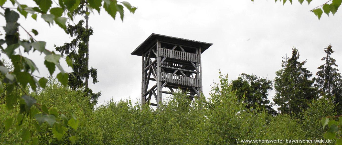 Langdorfer Aussichtsturm am Schönecker Riegel bei Zwiesel