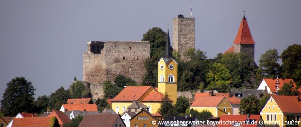 Sehenswürdigkeiten und Ausflugsziele in Leuchtenberg - Burgruine