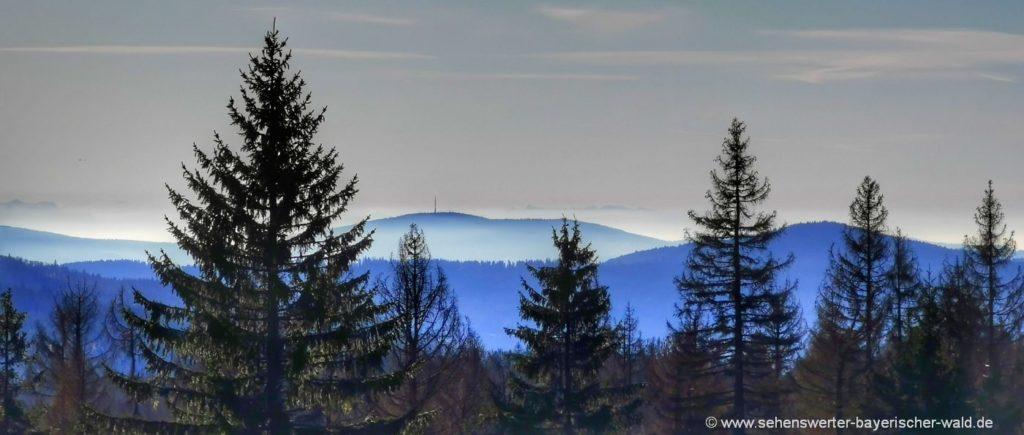 Lindbergerschachten im Nationalpark - Aussichtspunkt Alpenblick über den Brotjacklriegel