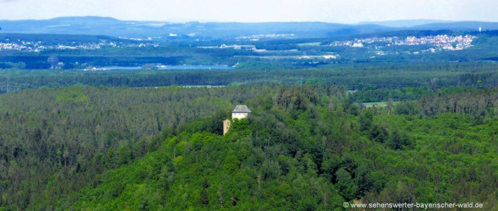 Aussichtspunkt Peilstein mit Blick in Regental & Oberpfälzer Seenland