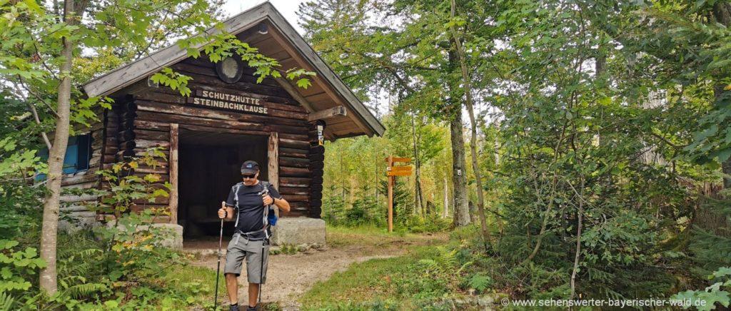 Wanderung ab Mauth über die große Kanzel zur Steinbachklause Schutzhütte