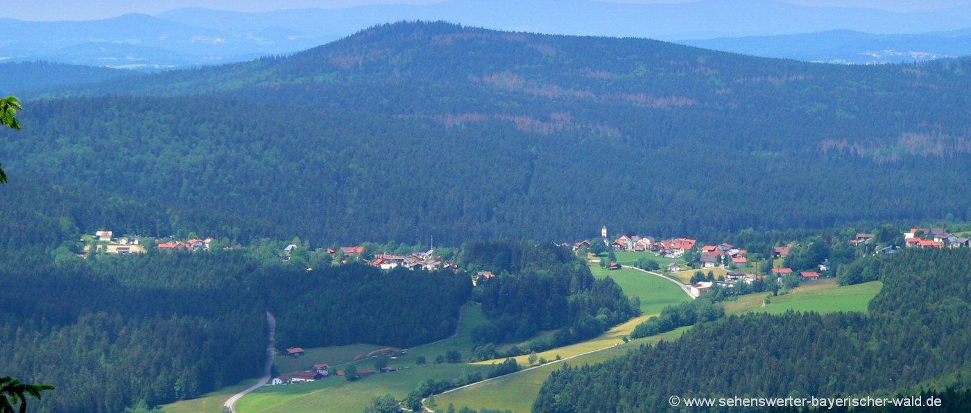Aussichtsfelsen am Almberg Wandern ab Mitterfirmiansreut / Philippsreut