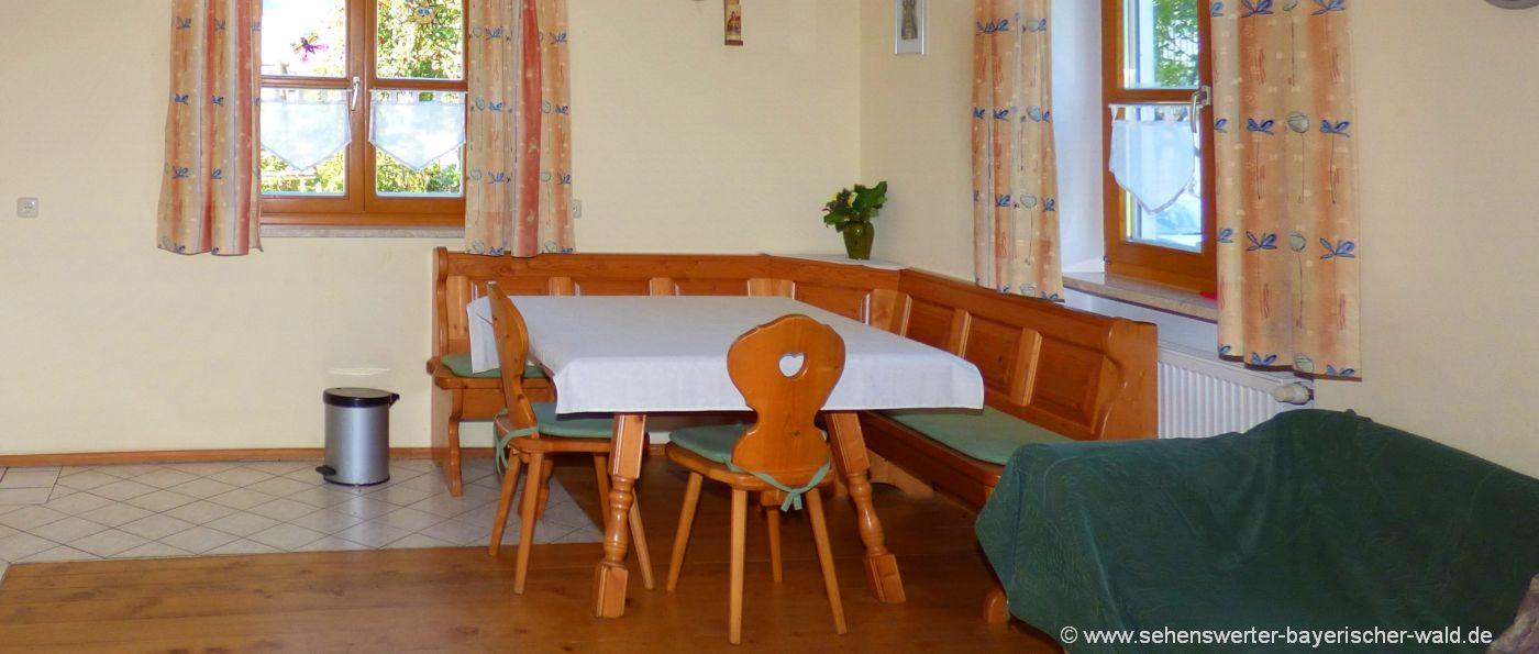 Monteurzimmer in Grafenau Monteurunterkunft bei Schönberg & Eppenschlag mit Wohnküche
