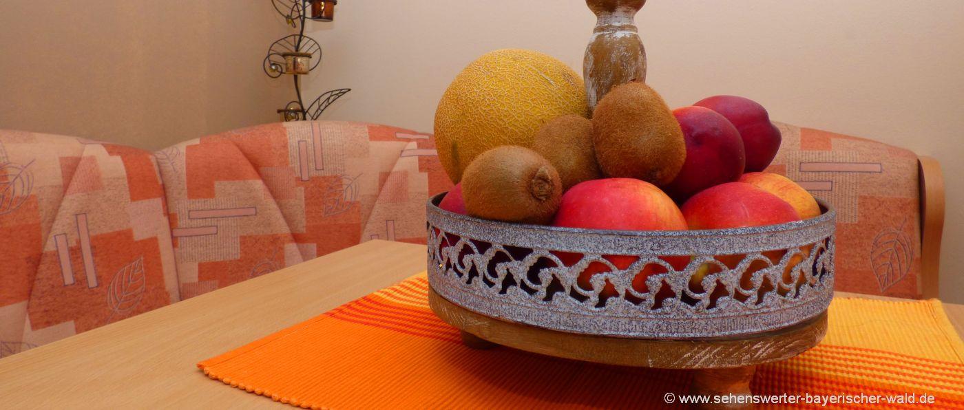 Monteurzimmer in Freyung Monteurwohnung bei Grainet und Waldkirchen - Obstkorb