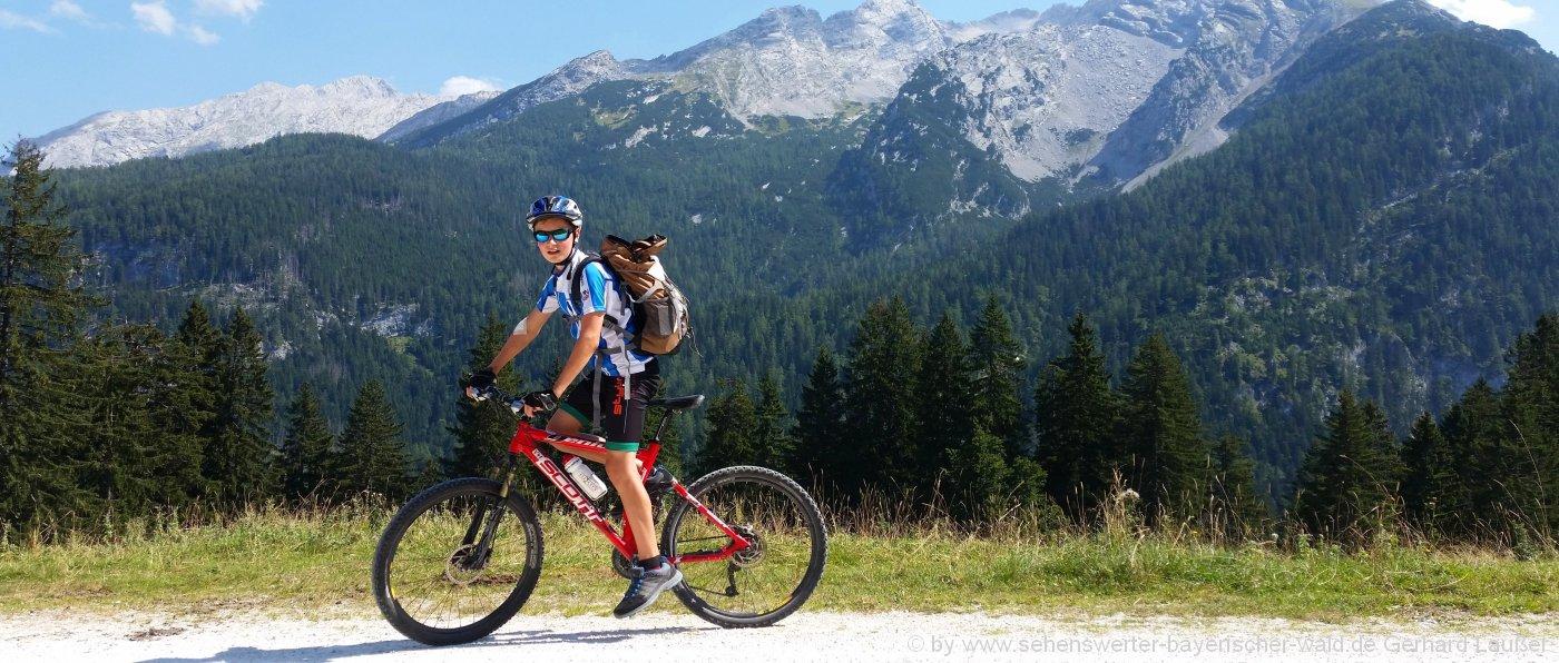 MTB Mehrtagestour Bayerischer Wald Unterkünfte für Mountainbike Wochenende in Bayern