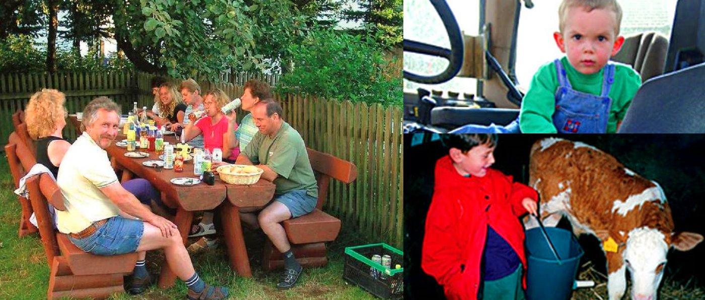 Bauernhof mit Traktor fahren in Bayern - Familienurlaub mit Tieren