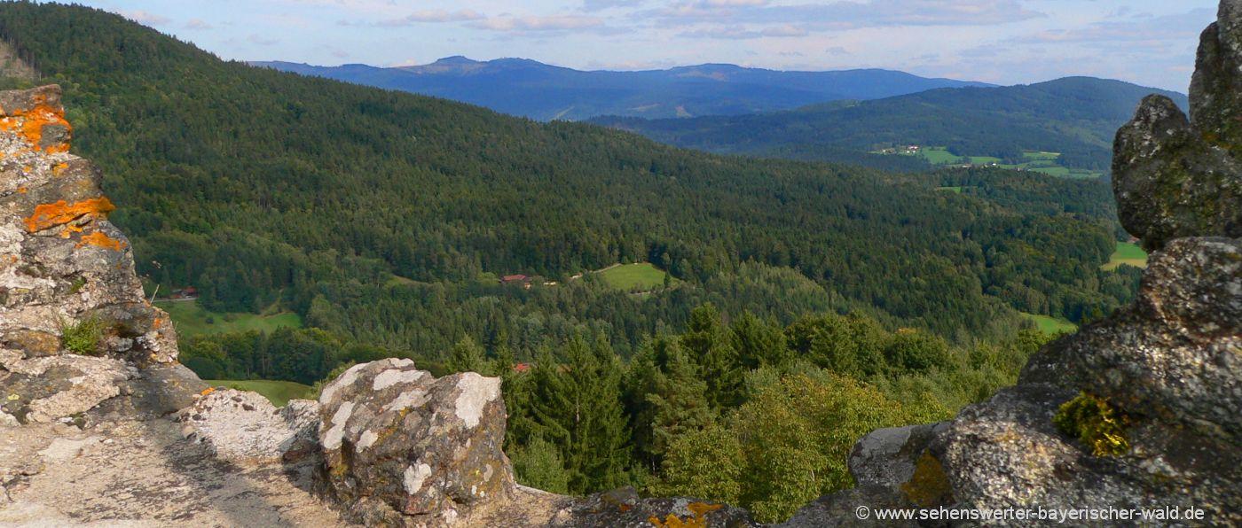 Neunussberg Burgruine bei Viechtach Aussichtspunkt Landkreis Regen