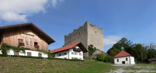 Neunußberg Burgruine bei Viechtach Landkreis Regen Aussichtspunkt