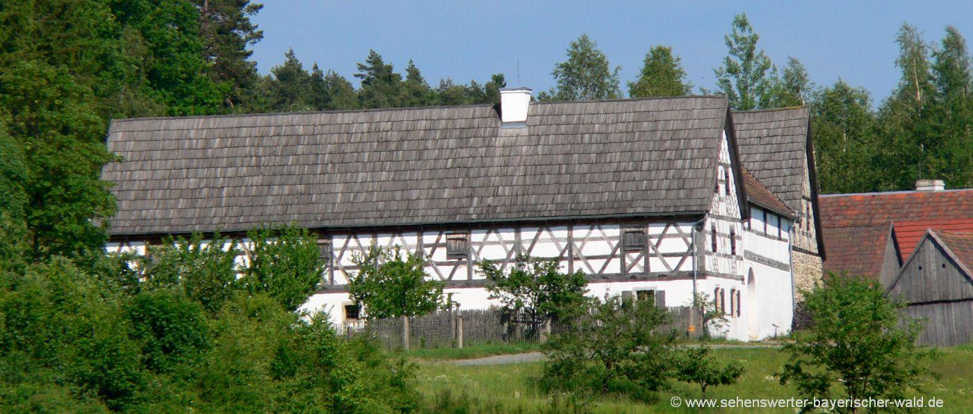 neusath-perschen-oberpfälzer-wald-freilandmuseum-fachwerkhaus