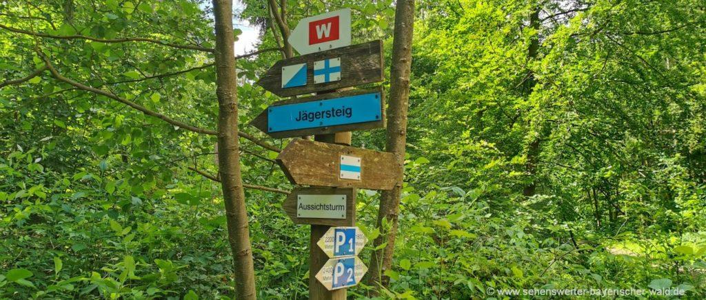 Ausgangspunkt Wanderparkplatz Wandern am Jägersteig zum Rauhen Kulm