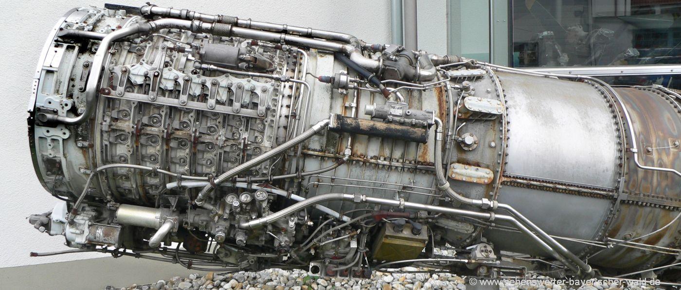 Gerhard Neumann Museum in Niederalteich Flugzeugturbine Triebwerk