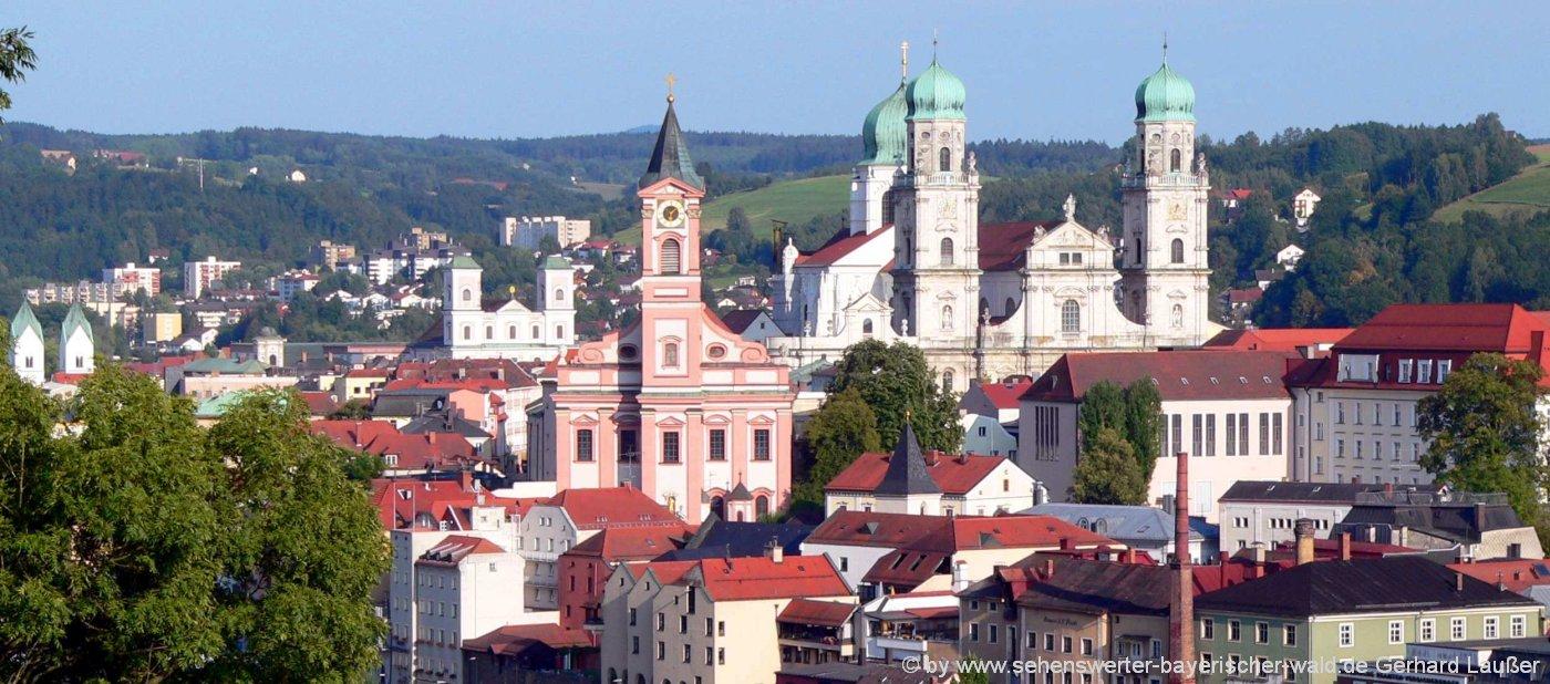 Ausflugsziele in Niederbayern Sehenswürdigkeiten in Passau an der Donau