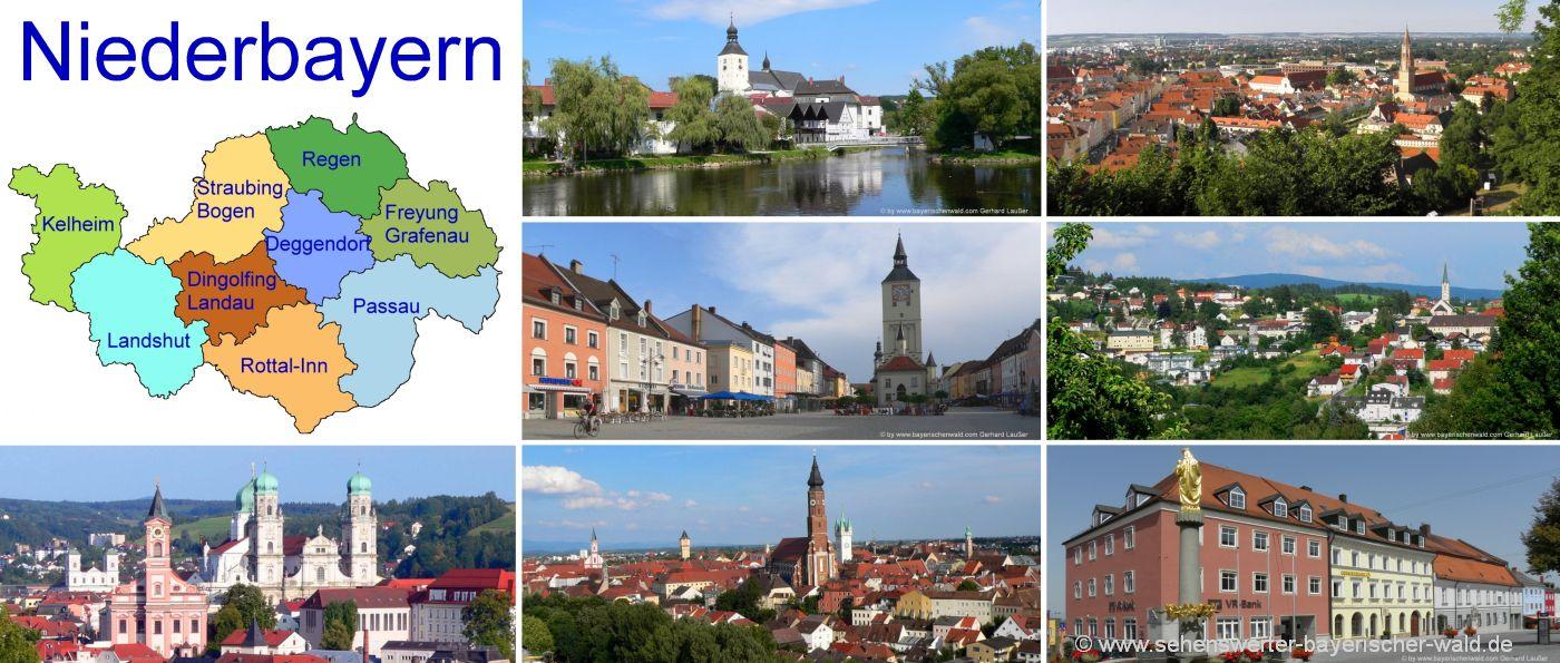 niederbayern-unterkunft-übernachtung-landkreise-urlaub-ausflugsziele-landkarte