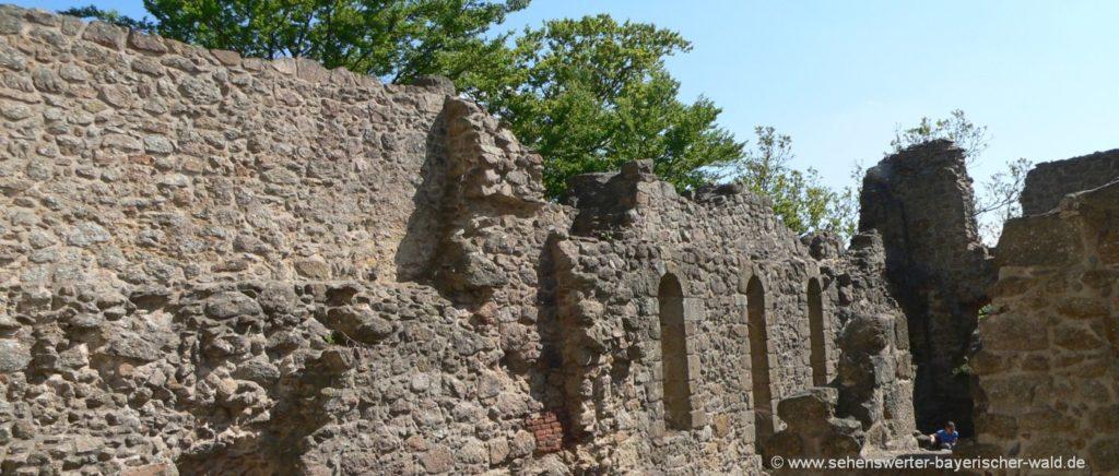 Burgruine Stockenfels bei Nittenau Ausflugsziele im Regental