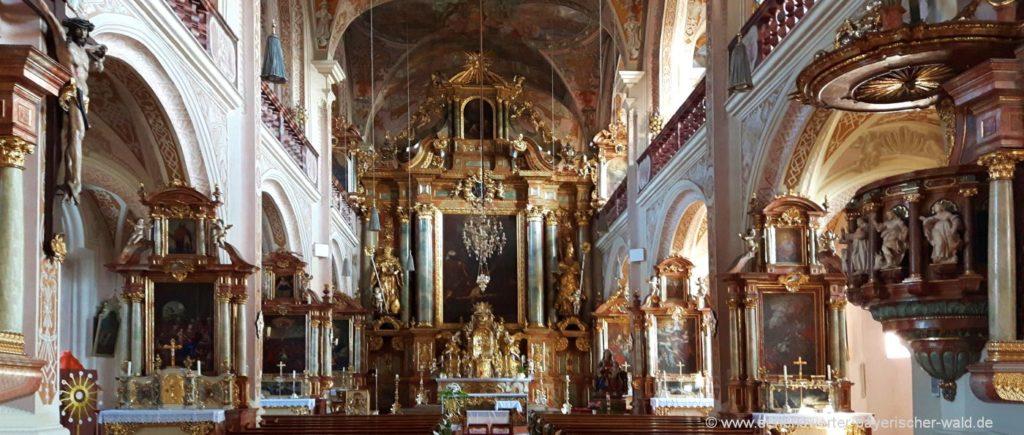 Kloster Oberalteich Kirche Peter und Paul in Bogen in Niederbayern