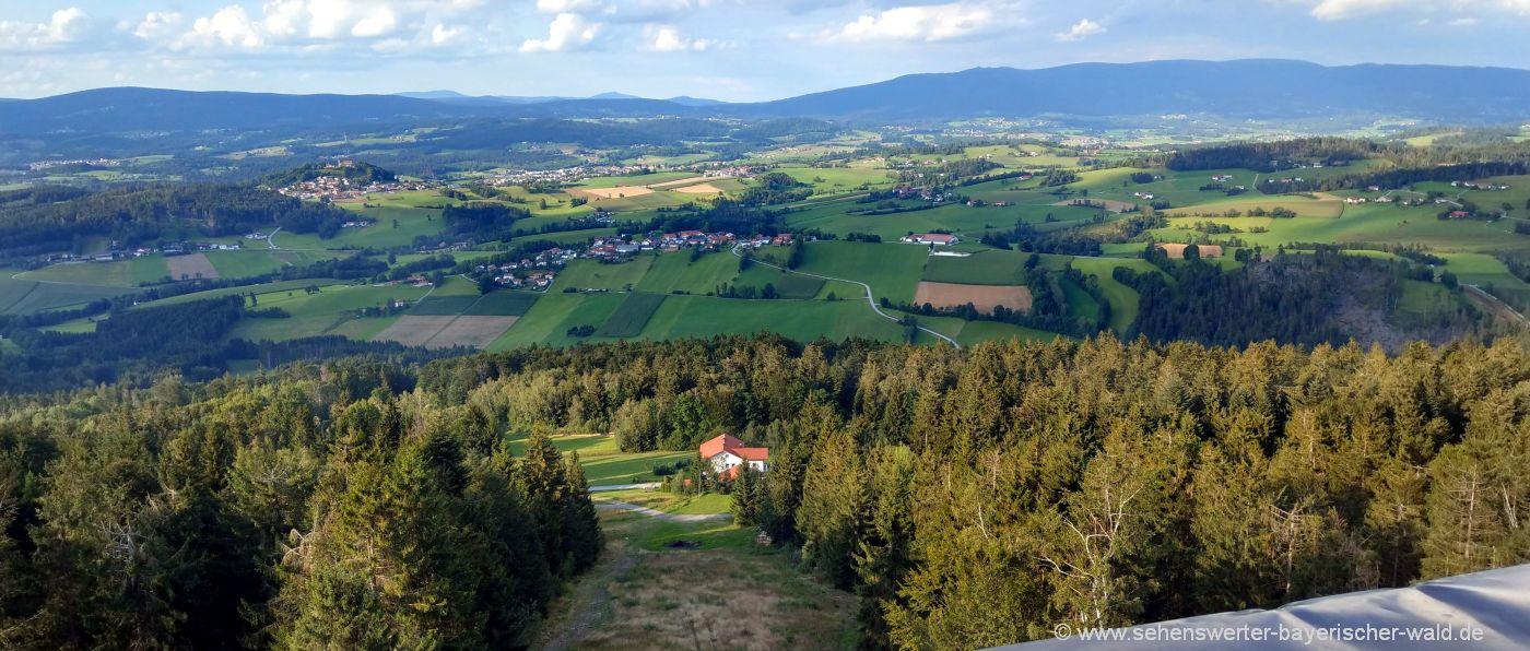 Oberfrauenwald Aussichtsturm bei Sonnen, Waldkirchen & Hauzenberg