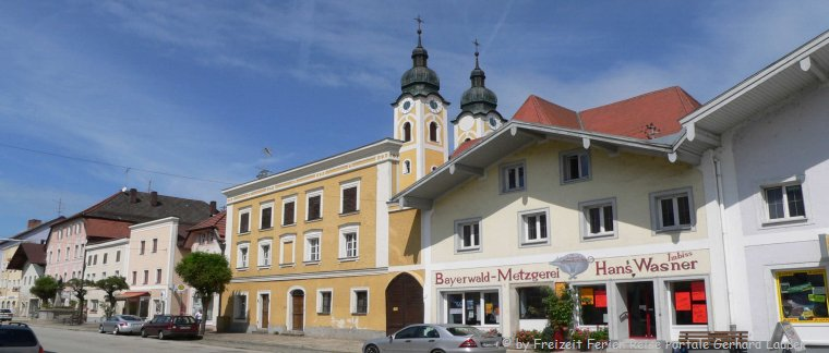 Sehenswürdigkeiten in Obernzell Stadtansicht