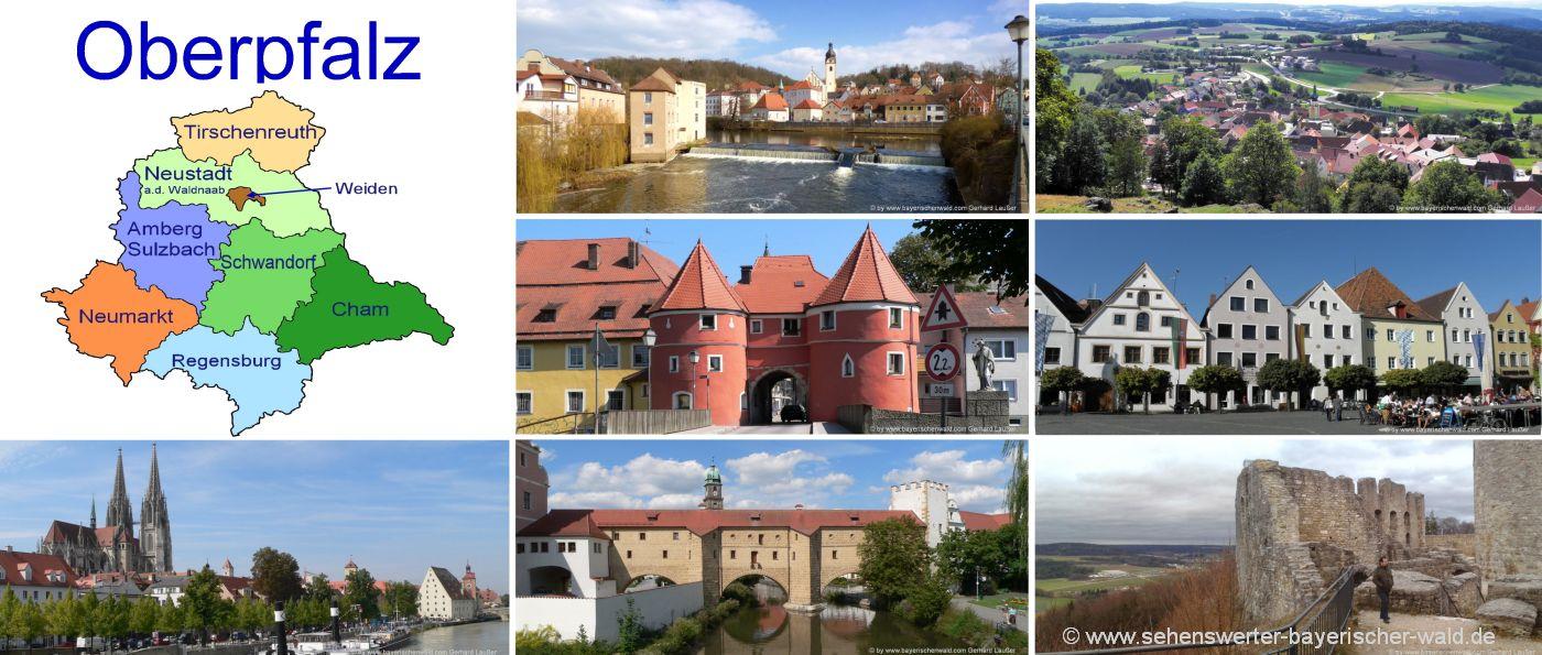oberpfalz-unterkunft-übernachtung-landkreise-urlaub-ausflugsziele-landkarte