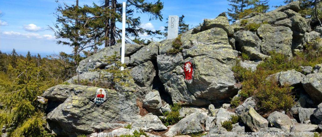 Grenzsteig Bayern Tschechien Ferienorte Urlaub & wandern